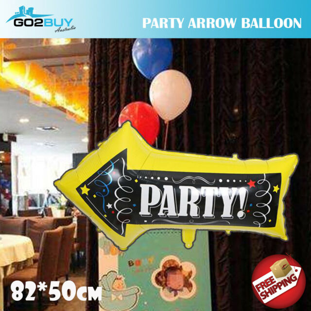 Large 82x50cm PARTY Arrow foil balloons birthday Party Decorating Balloon Kids