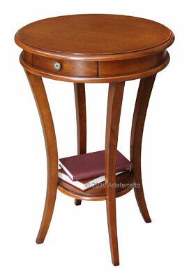 Tavolino Rotondo In Legno Tavolino Classico Per Soggiorno Ingresso Salotto Ebay