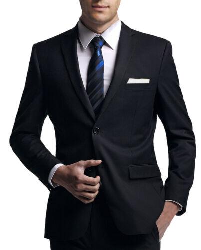 Business Traveller Stoff NEU FVF Couture Collection Anzug in schwarz slim fit
