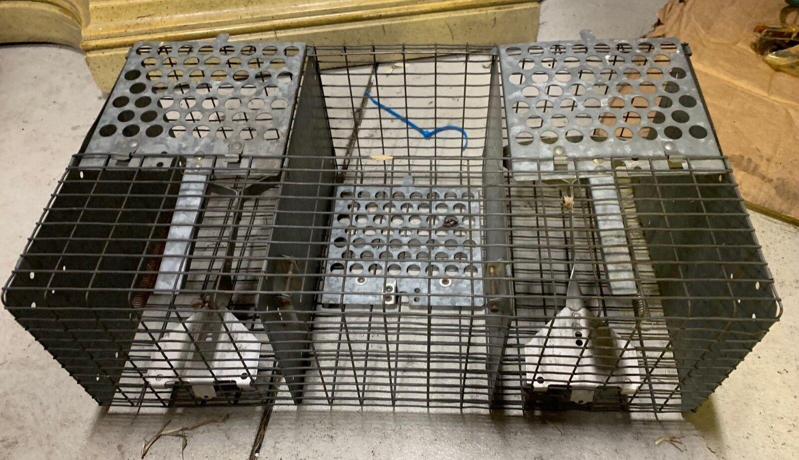 Vintage små Animal 3 Cage Trap