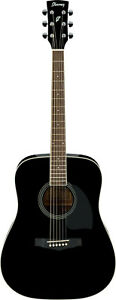 Ibanez-PF15-BK-Dreadnought-Westerngitarre-Black-High-Gloss