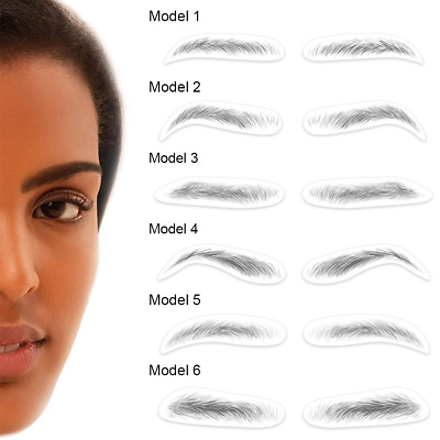 Temporary Tattoo Eyebrows For Women And Men Simple And Convenient Multiple Types Ebay