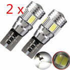T10194 501 W5W 5630 LED 6 SMD HID CANBUS ERROR FREE Car Side Wedge Light 2pcs