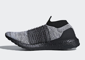 Details about Adidas Ultraboost Laceless Ultra Boost Core Black Flat White BB6137 Size 7 13