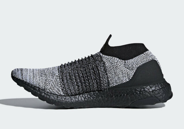 a05d5090c2bf7 Adidas Ultraboost Laceless Ultra Boost Core Black Flat White BB6137 Size  7-13