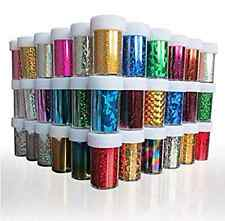 24PCS Starry Sky Stars Nail Art Stickers Tips Wraps Foil Transfer Adhesive DIY