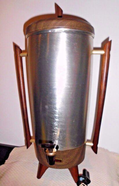 Vintage Tricolator Coffee Maker 14-42 Cups w/ wood handles