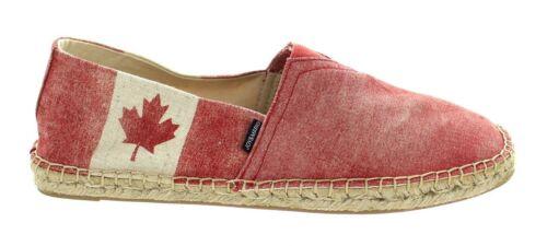 Joy /& Mario Women/'s Canada Flag Hemp Canvas Shoes Flats Loafers National