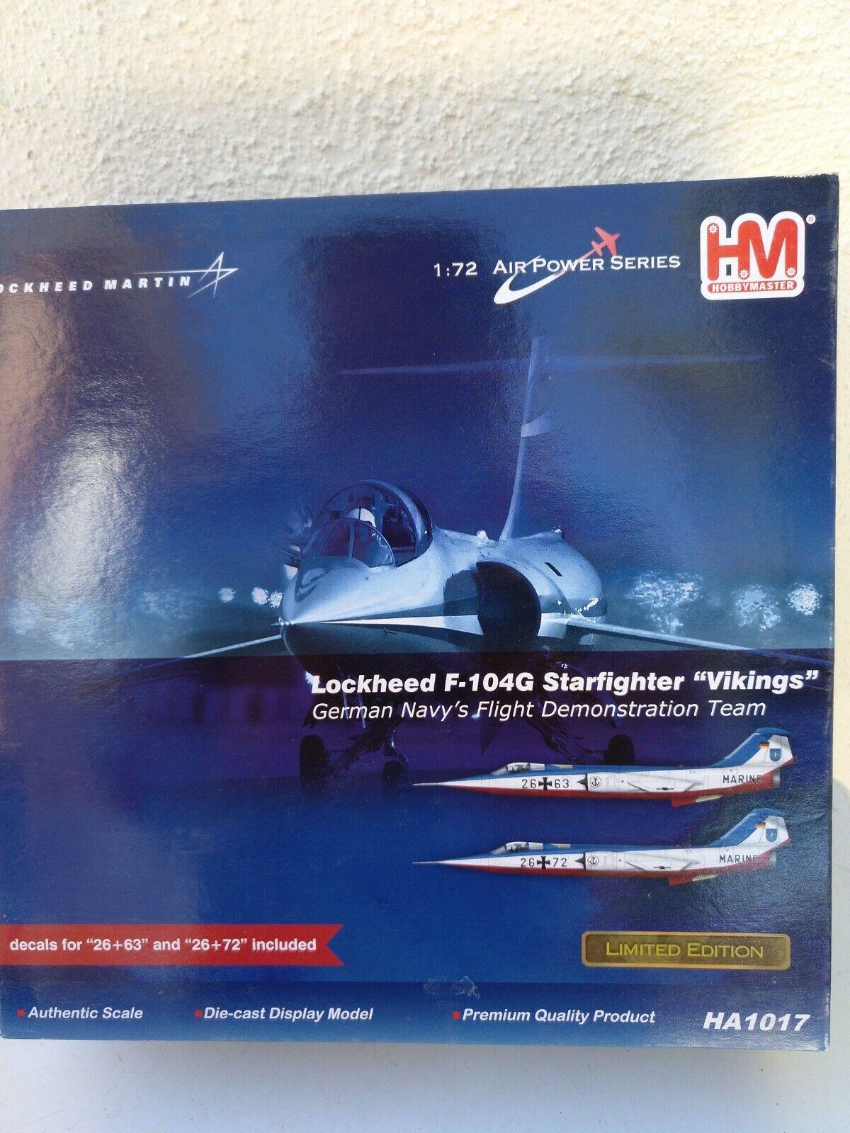 gran venta Hobby Master HA1017 Lockheed F-104G 26+63 or 26+72 German Marine Marine Marine Vikings  ordene ahora los precios más bajos