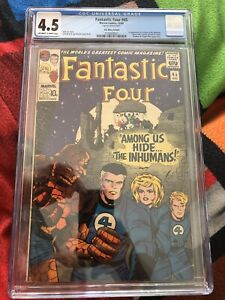 Fantastic-Four-45-CGC-4-5-OWW-Silver-Age-Marvel-Comics-1st-app-Inhumans-Dec-1965