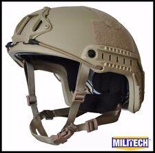DE M/LG Deluxe LVL IIIA High Cut Ballistic KEVLAR Bullet Proof Helmet DEVGRU