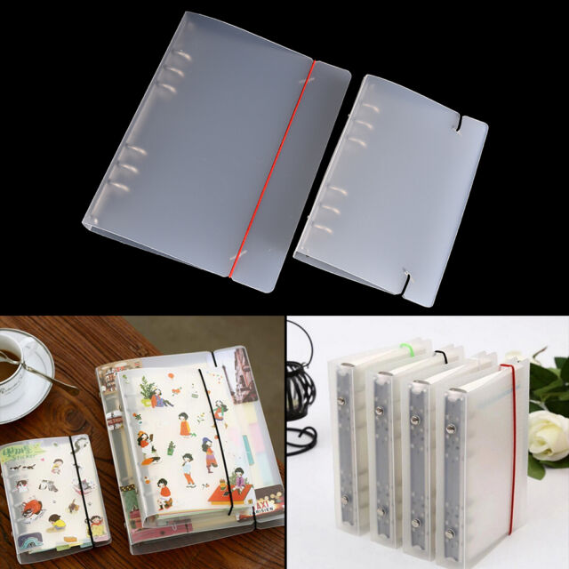 A5//A6//A7 Transparent Loose Leaf Ring Binder Notebook Weekly Planner Diary BR