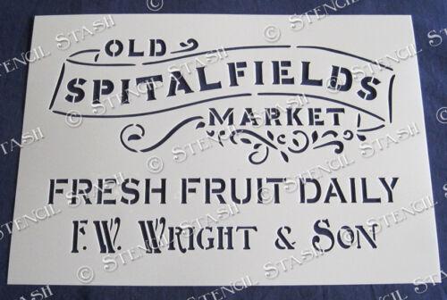 Plantilla 5 tamaño del mercado de Spitalfields SM Londres Vintage Muebles superior de Mylar de 250