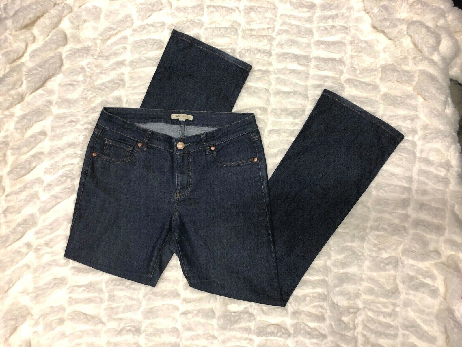 CAbi R bluee Dark Wash Boot Cut Jeans Women's Size 6