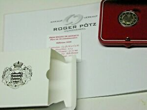 2-Commemorative-Coin-Honore-III-Pf-Proof-Case-Certificate-Outer-Packaging