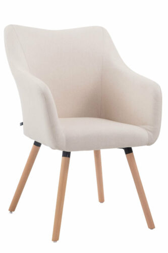 Besucherstuhl McCoy V2 Stoff Holz Stuhl Konferenzstuhl Polsterstuhl Küchenstuhl