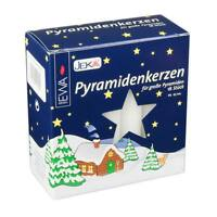 18 German Large White Christmas Pyramid Candles 4in Tall X 11/16in Dia
