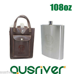 Image Is Loading 108oz Stainless Steel Hip Flask Liquor Whiskey Alcohol