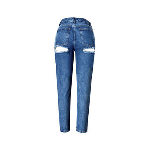 bc01b530aa8 High Rise Vintage Distressed Butt Jeans Women Bare-butt Denim Ripped ...
