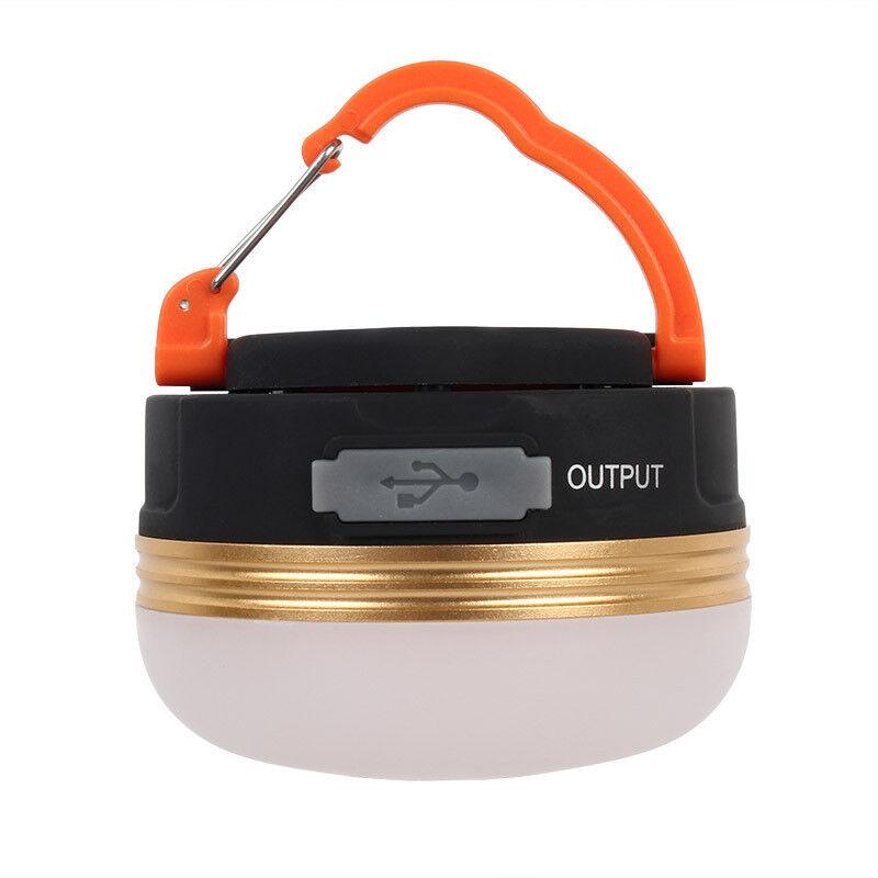 USB Rechargeable LED Camping Tent Lantern Power Bank 10000mAh Flashlight Lamp