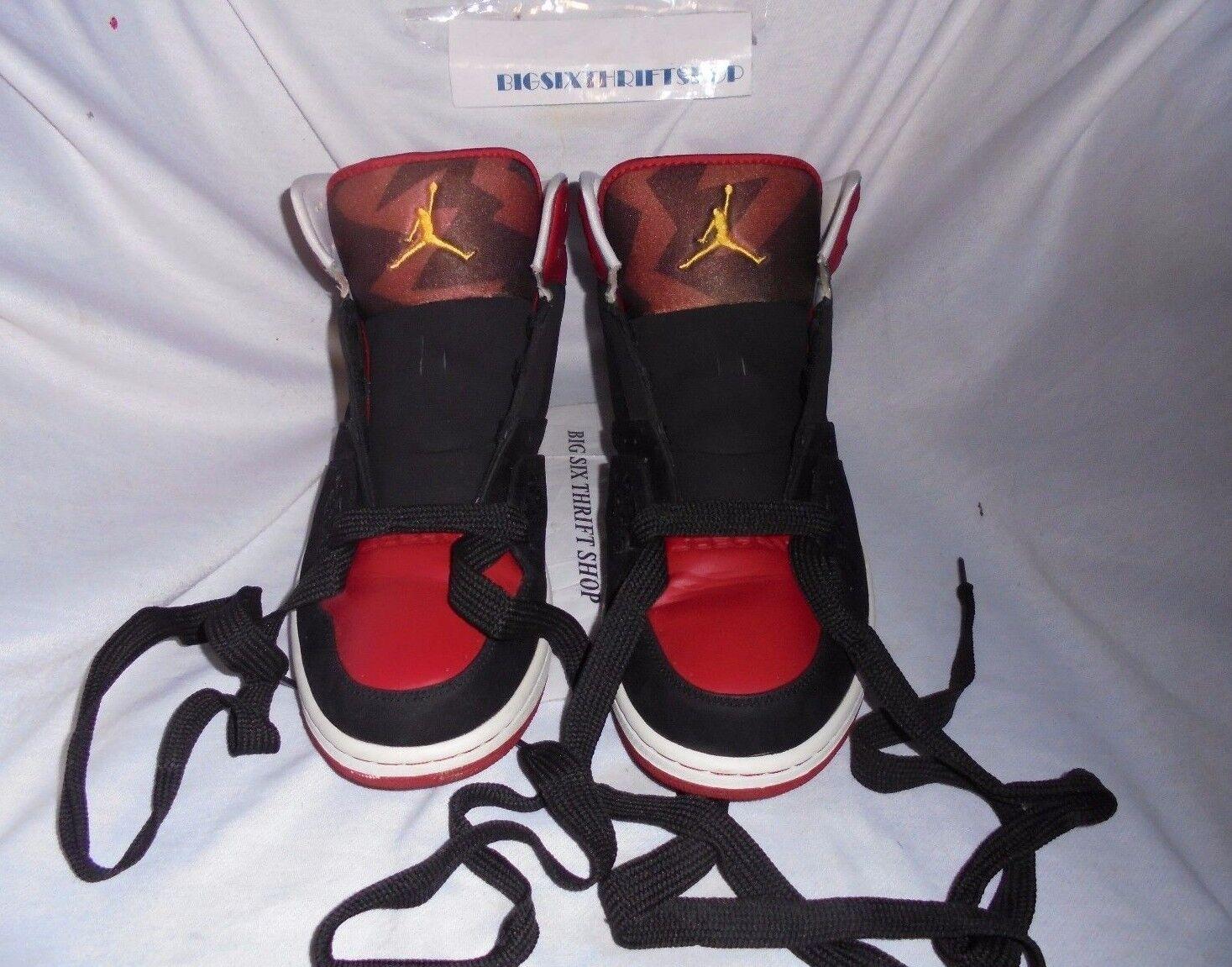 2009 372704 Nike Jordan Flight Basketball Shoes Black Red 372704 2009 063 Adult size 13 9d08ef