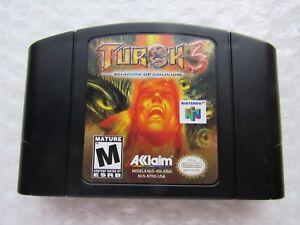 Turok-3-Shadow-of-Oblivion-Nintendo-64-N64-Authentic-OEM-Video-Game-Cart-GREAT