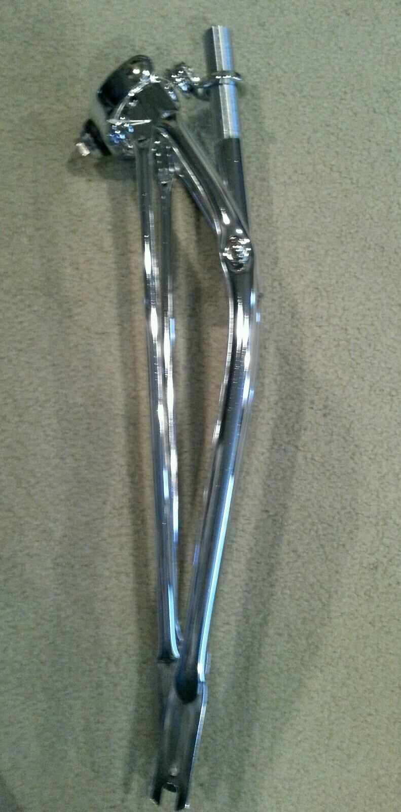 """NEW SPRINGER FORK  FRONT END FOR 20/"""" BICYCLES  CHROME 1/"""" NICE"""
