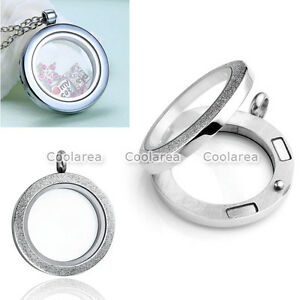 1x-Living-Memory-Floating-Charms-Glass-Frosted-Round-Locket-Pendant-For-Necklace