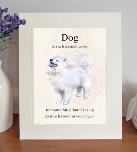 """Watercolour Image Samoyed /""""Dog is such a small word/"""" 8x10 Picture//Print Gift"""