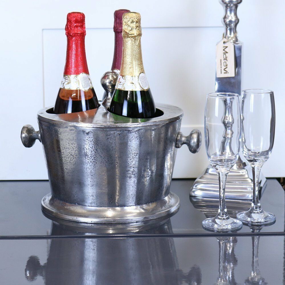 Chuhan Seau à glace champagne 3 bouteille section avec Couvercle Aluminium