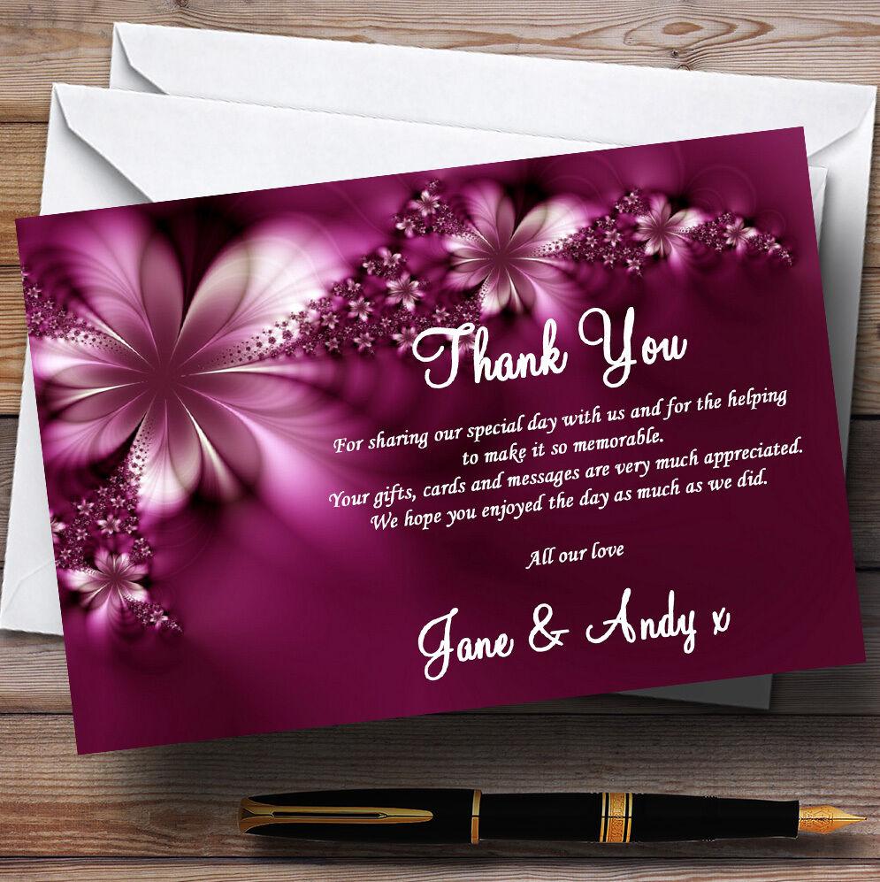 Beautiful lila Personalised Wedding Thank You Cards