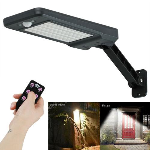 60 LED Solar Wandleuchte mit Bewegungsmelder Gartenlampe Außenleuchte Strahler