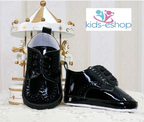 Shoes-Christening-Wedding-Were Black BABY-Boys-brevet-PRAM