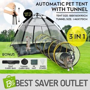 Image is loading Auto-Pop-up-Puppy-Pet-Dog-Cat-Tent-  sc 1 st  eBay & Auto Pop-up Puppy Pet Dog Cat Tent Outdoor Portable Play Fun House ...