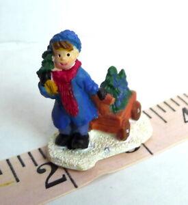 Victorian-Village-Boy-and-Wagon-Christmas-Miniature-Grandeur-Noel-Winter-Scene