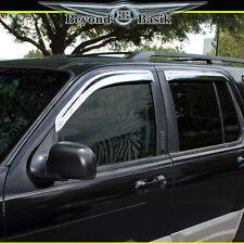 2002-2010 Ford Explorer 4PC Chrome Door Vent Visors Rain Guards