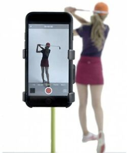 Universal-Record-Golf-Swing-Handyhalter-amp-Trainingshilfe-TM-Schwarz
