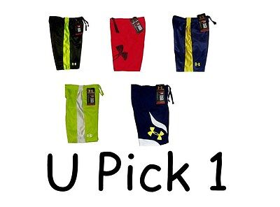 UNDER ARMOUR HeatGear Big UA Logo Athletic Shorts Toddlers Boys 4T