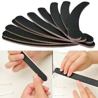 10 Pcs/Set  Double Sided Grit Banana Curved Nail Files Emery Board New Kit