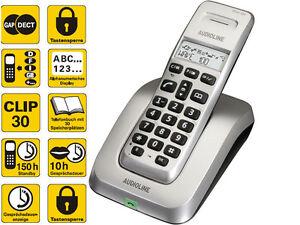 Audioline-Wave-100-analog-DECT-schnurloses-STRAHLUNGSARM-Telefon-ECO