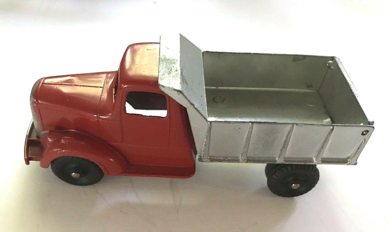 Vintage Metal Tootsietoy Mack L camión 1947 Juguete rosso argento-Original