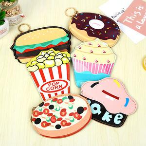 3D-Delicious-Hamburger-Doughnut-Coin-Bag-Mini-Purse-Zipper-Pocket-Clutch-Wallet