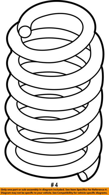 Ford Oem Coil Spring Db5z5560f Image 4