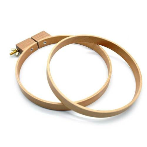 Wooden Cross Stitch Machine Embroidery Round Hoop Ring Sewing Fixed Hoop LD