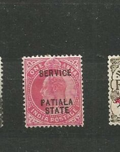 India-Postage-service-Patiala-State-King-Edward-VII-Old-Stamps-Timbres