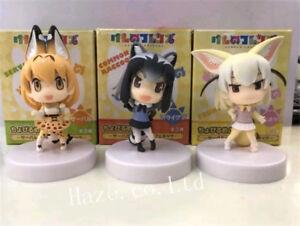 3PCS-Kemono-Friends-Serval-Raccoons-Fennec-PVC-Mini-Figure-Collection-5cm