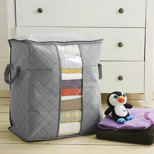 New-Bamboo-Charcoal-Folding-Clothes-Blanket-Closet-Organizer-Bag-Storage-Bo-I2I2