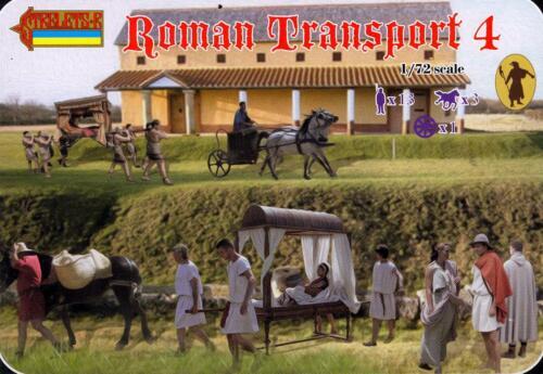 Strelets Models 1//72 ROMAN TRANSPORT with LITTER Set 4 Figure Set