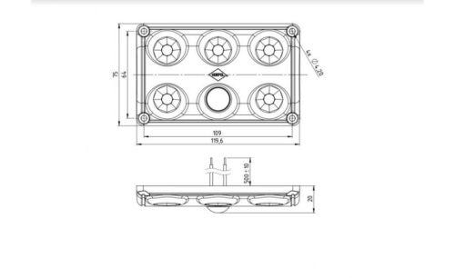 LED Lampada interni dell/'Abitacolo Lampada Auto Camion Rimorchio Luce 12v-24v LWD 2153