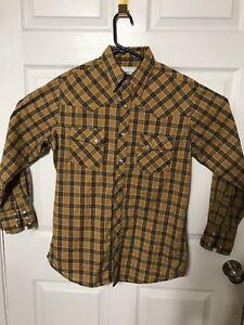 Wrangler-Wrancher-Shirts-Men-039-s-Western-Shirt-Size-M-Flannel-Multi-Color-Plaid
